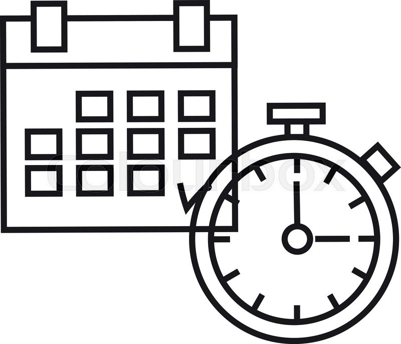 800x686 The Concept Of Time. Planning Time. Icon Of Time. Planning Icon
