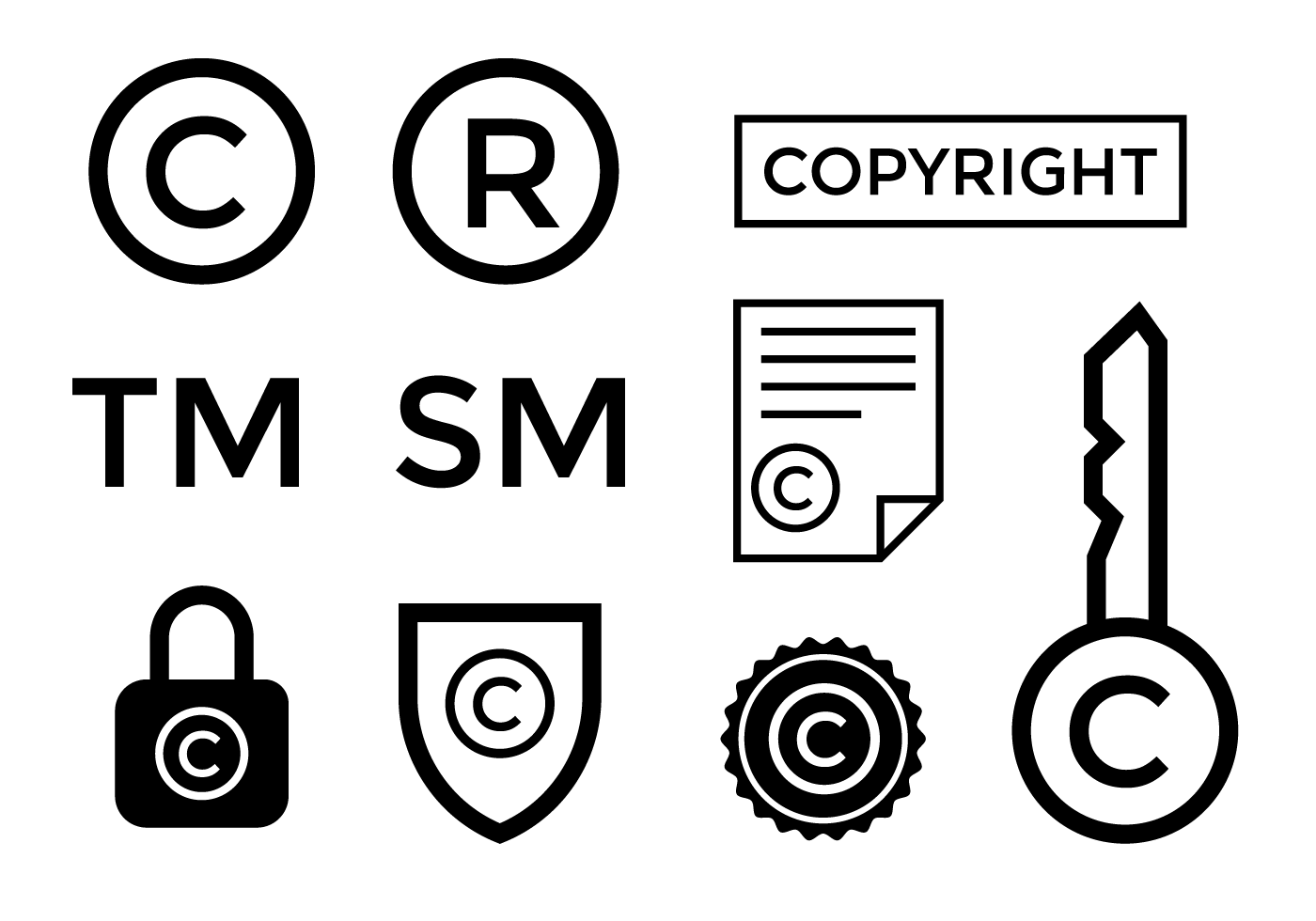 1400x980 Registered Trademark Free Vector Art