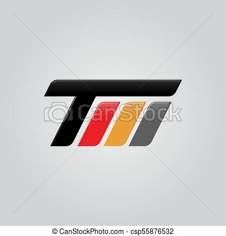 450x470 Creative Letter Tm Logo Concept Design, Modern, Speed And