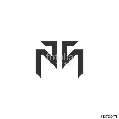 500x500 Mt Or Tm Letter Logo Stock Image And Royalty Free Vector Files On