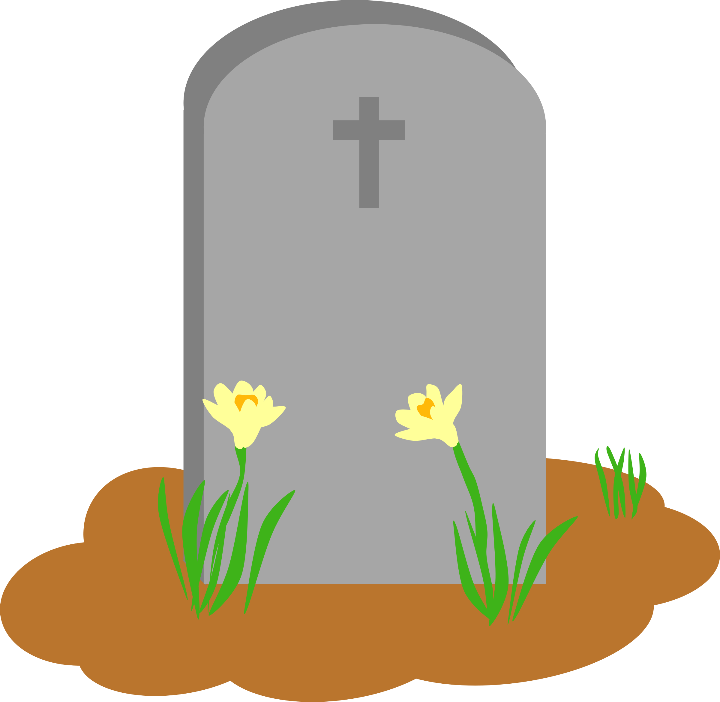2400x2338 Tombstone And Grave Vector Art Image