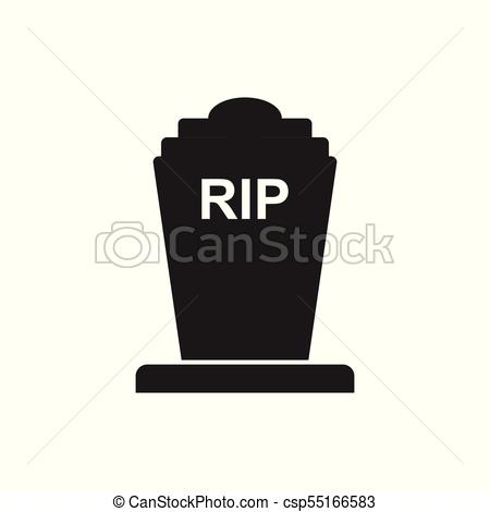 450x470 Halloween Grave Icon. Gravestone Vector Illustration. Rip