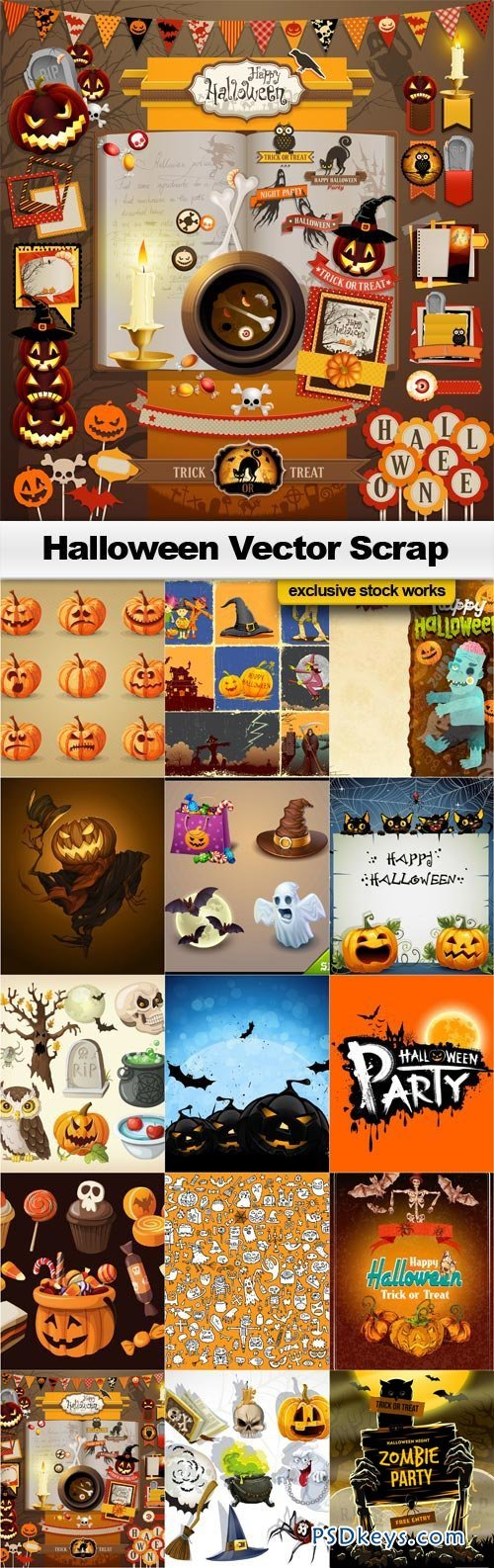 500x1586 Halloween Vector Scrap