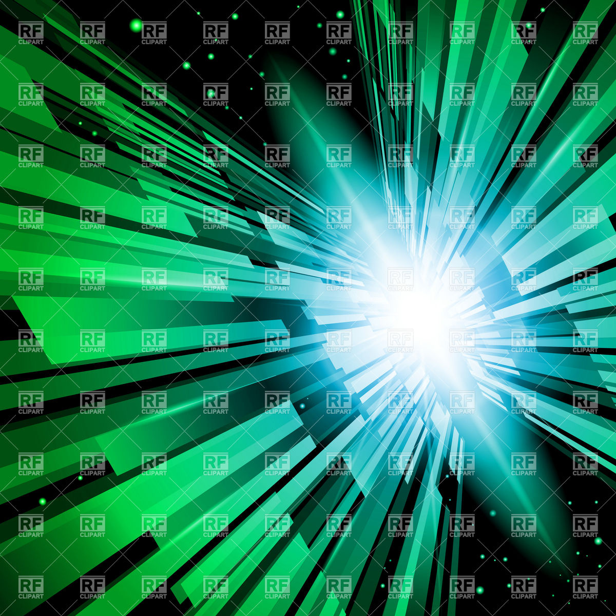 1200x1200 Abstract Radiance, Green Flash And Torrent Vector Image Vector