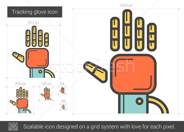 600x432 Tracking Glove Line Icon. Vector Illustration Andrei Krauchuk