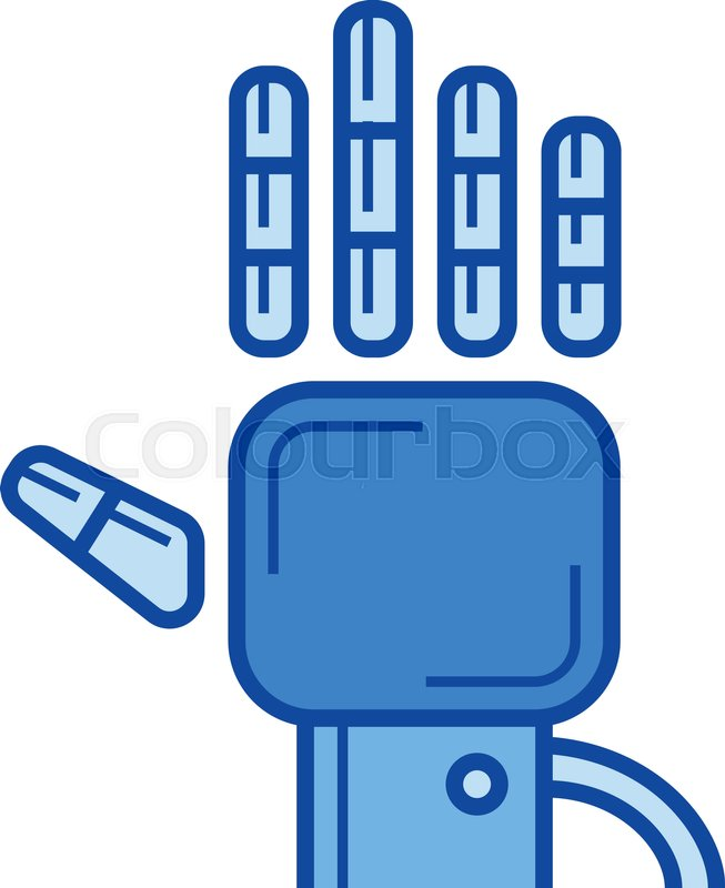 653x800 Tracking Glove Vector Line Icon Isolated On White Background