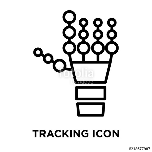 500x500 Tracking Icon Vector Isolated On White Background, Tracking Sign
