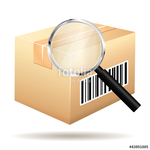 500x500 Tracking Parcel Services. Order With Barcode And Loop Icon. Stock