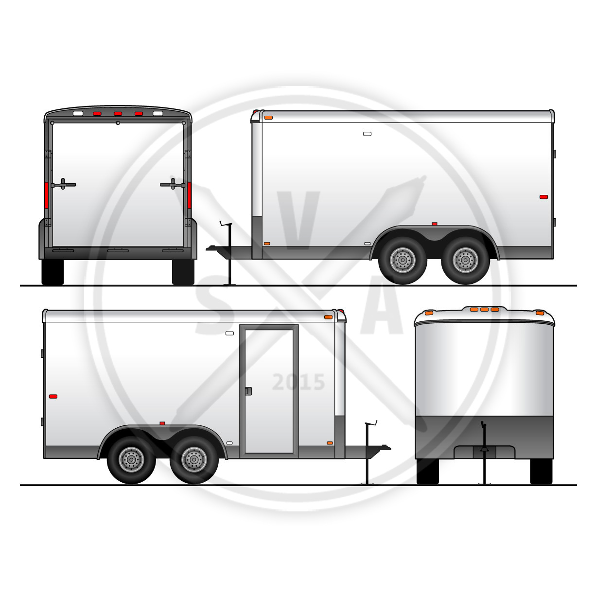 1224x1224 Utility Trailer Vehicle Outline