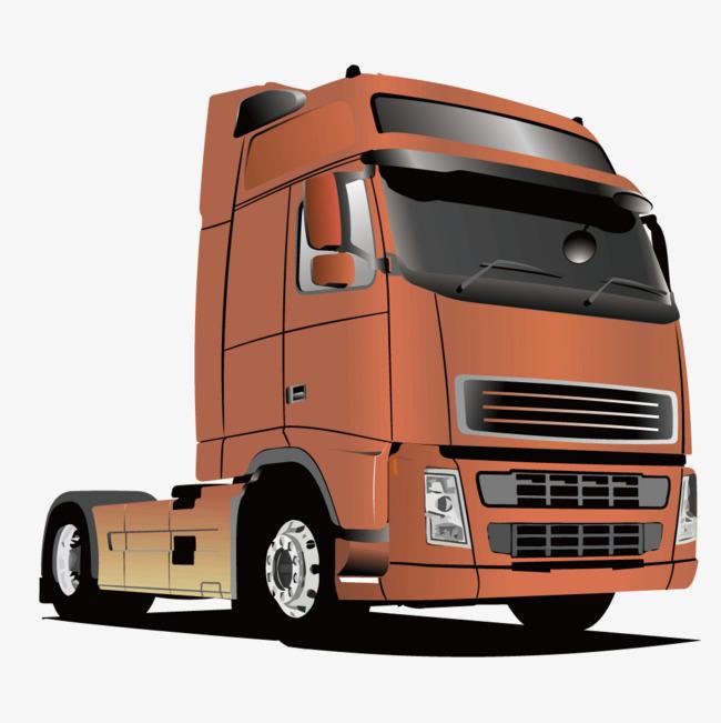 650x651 Vector Trailer Truck Head, Truck Vector, Head Vector, Truck