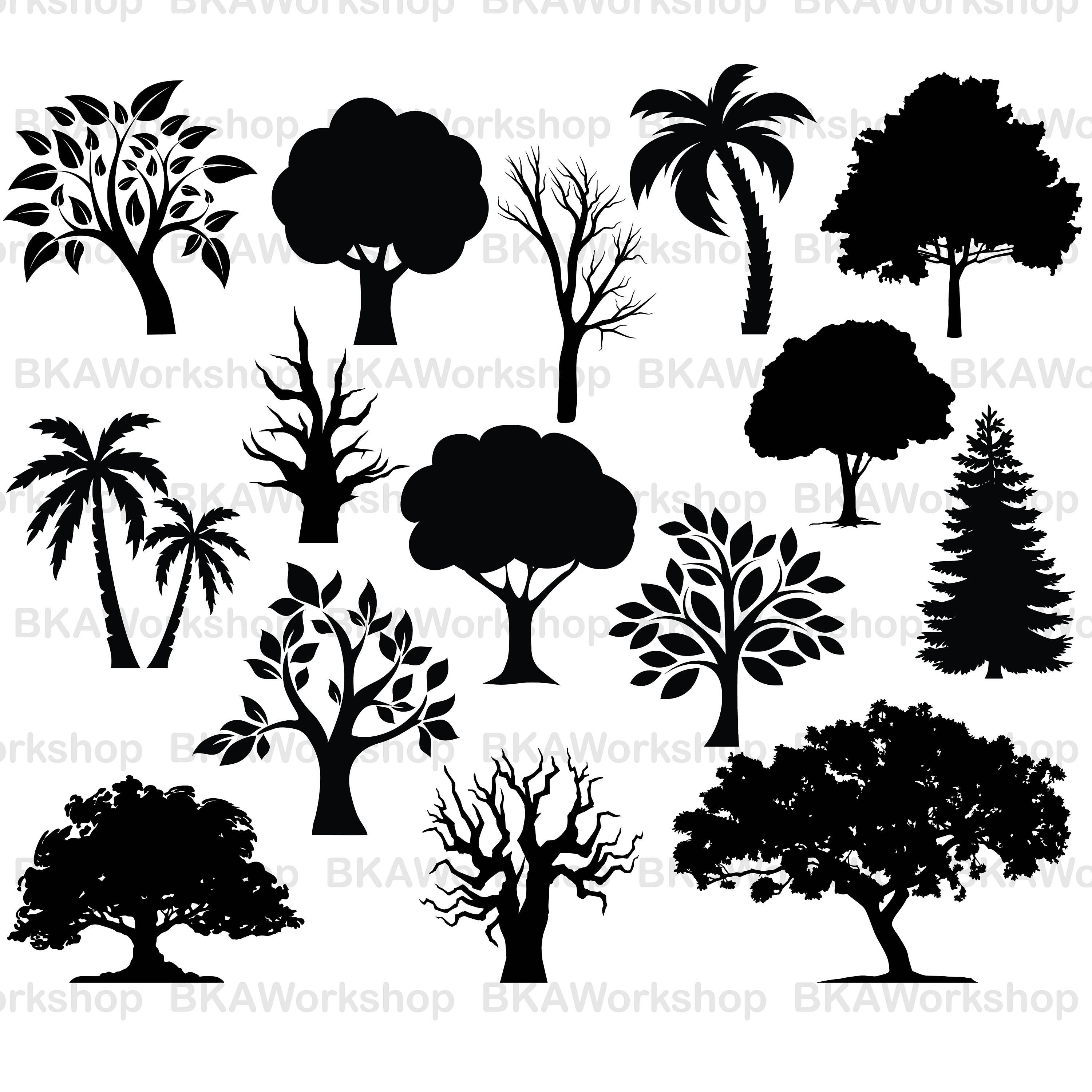 3000x3000 Tree Svg Tree Vector Tree Clipart Tree Bundle Tree Etsy