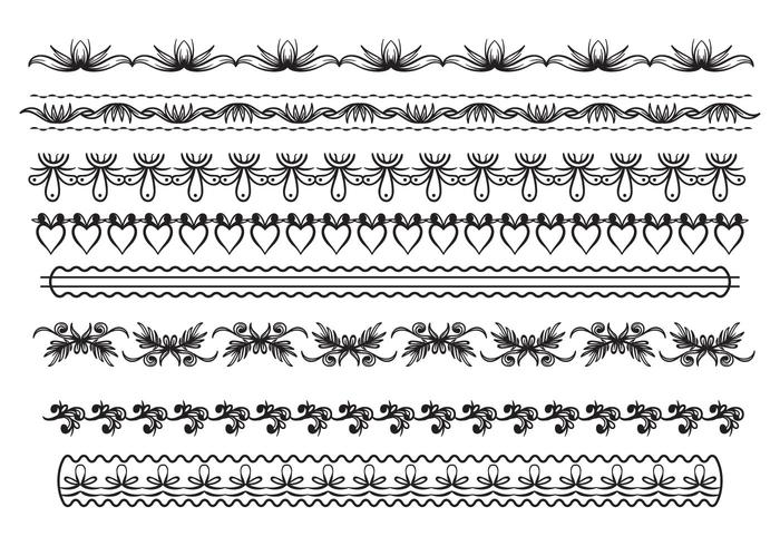 700x490 Free Lace Trim Vector