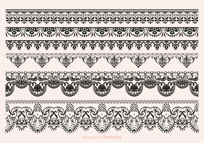 700x490 Free Vector Lace Vector Borders