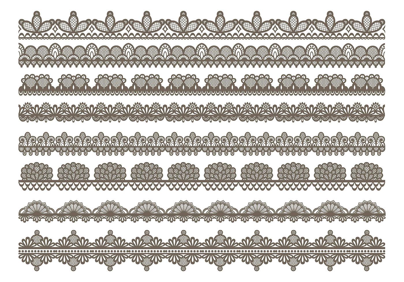 1400x980 Lace Trim Free Vector Art