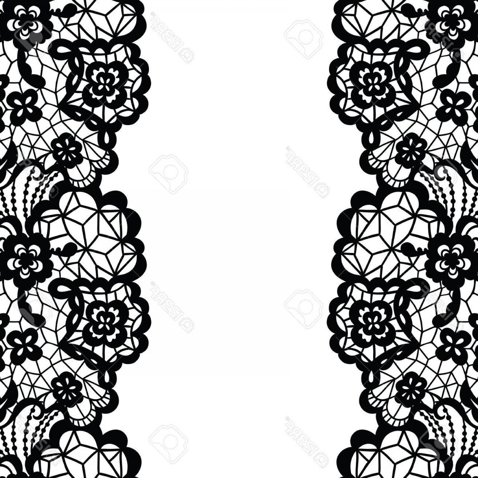 1560x1560 Photostock Vector Seamless Lace Border Vector Illustration Black