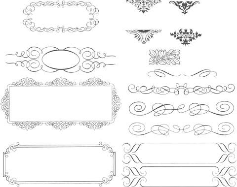 480x380 Simple Border Decoration Vector