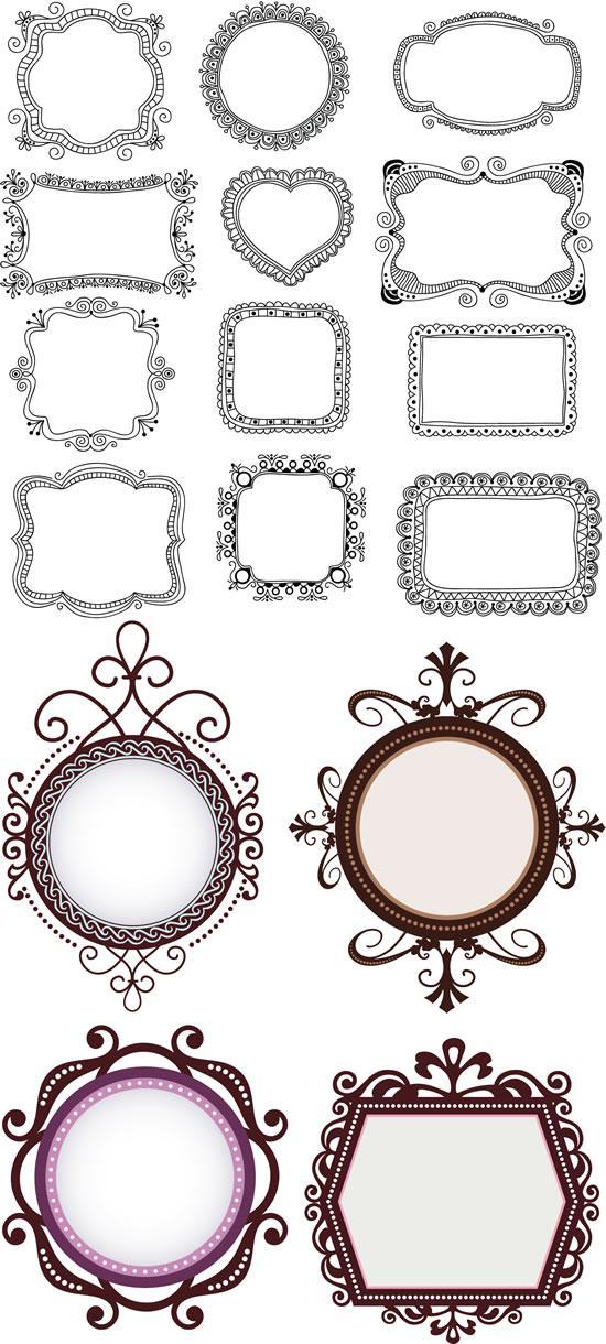 550x1220 Simple Lace Trim Frame Vector Diagram [Ai]