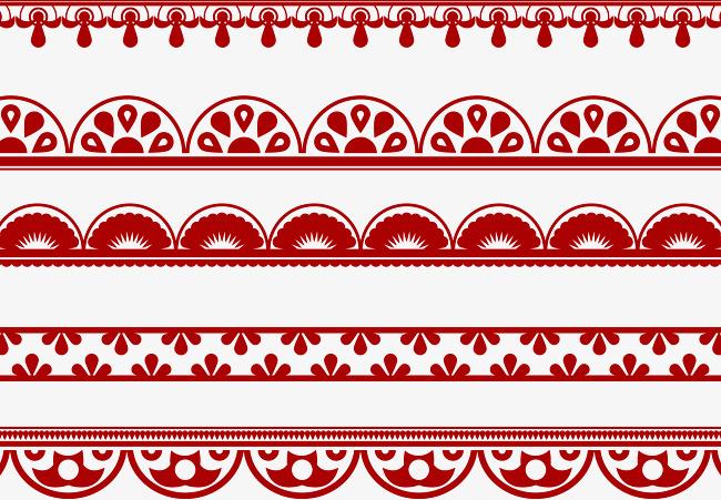 650x451 5 Green Pattern Trim Vector,texture Border, Green Vector, Pattern