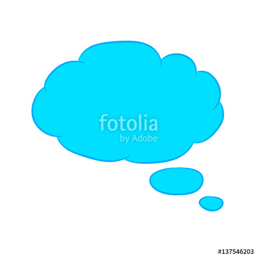 500x500 Cloud Thought Fly Blue With Trim Of Vector Illustration Stock