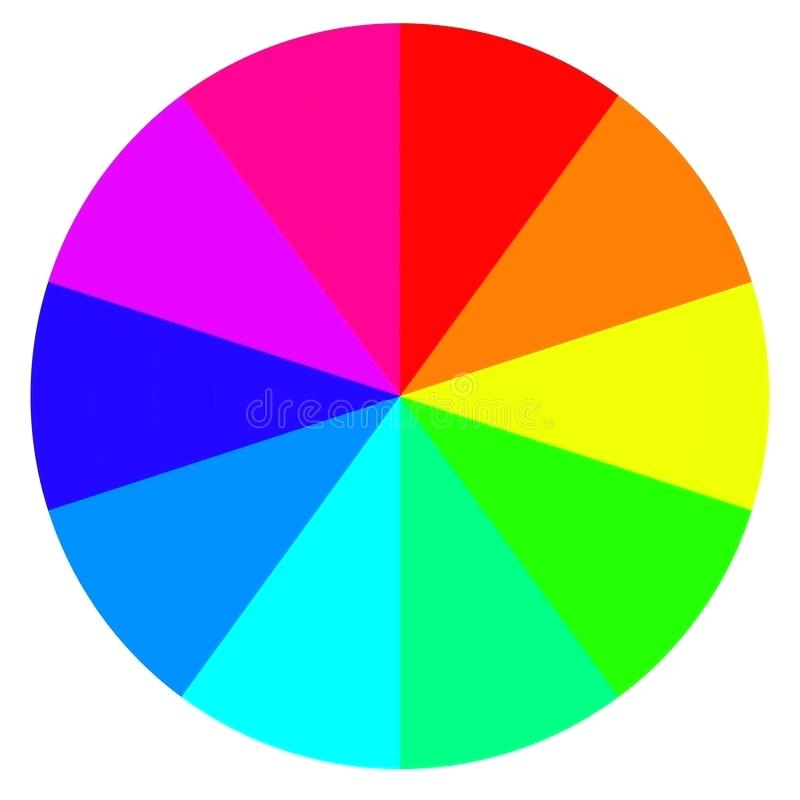 800x800 Download Template Wheel Fortune Color Palette Vector Stock