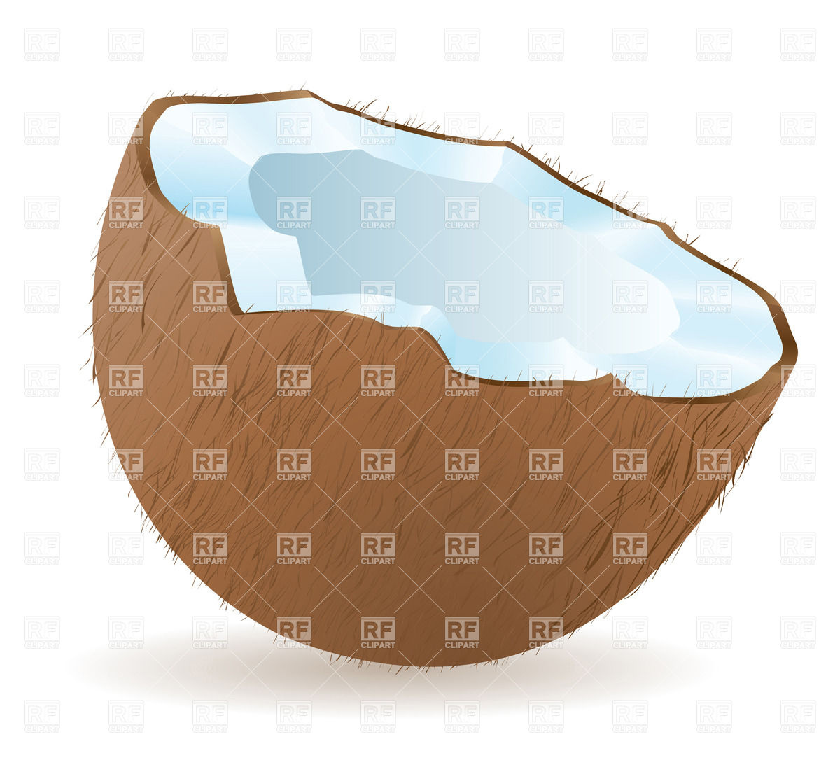 1200x1086 Half Of Coconut (Tumblr) Vector Image Vector Artwork Of Food And