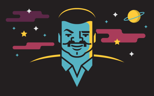 500x313 Illustration People Space Portrait Science Cosmos Vector Neil