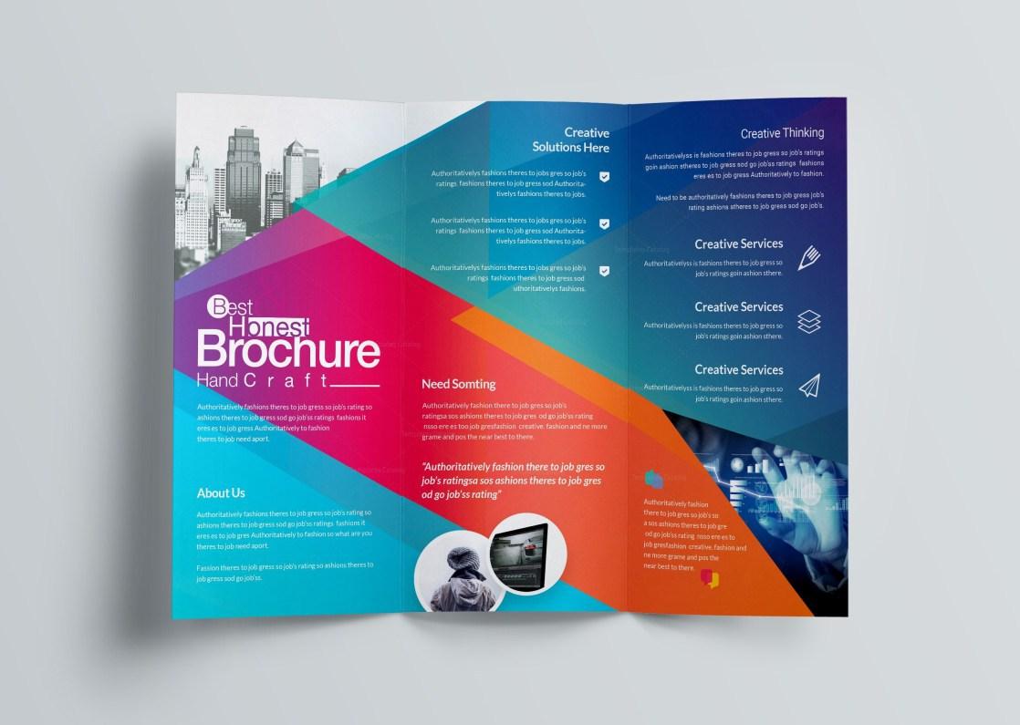 1118x795 Document Template Brochure Fold Professional Excelt Corporate