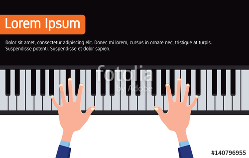 500x318 Businessman Hands On Piano Tuts Music Enthusiast Flat Vector
