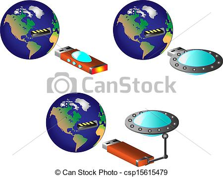 450x357 Earth With Usb Port, Vector, Ufo, Usb Flash Drive.