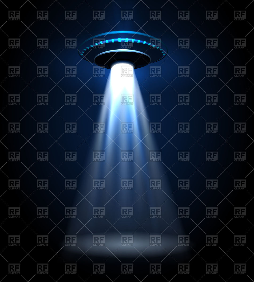 1080x1200 Flying Ufo With Light Beam Vector Image Vector Artwork Of