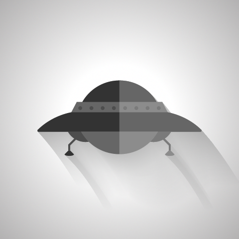 480x480 Free Vector Ufo By Markbartle