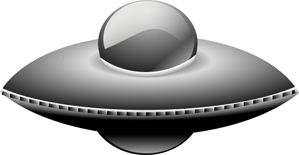 600x312 Ufo In Metalic Style Clip Art Free Vector 4vector