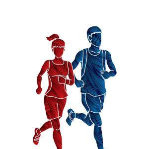 300x300 Runner Athlete Sprint Start Explosive Run Vector Illustration