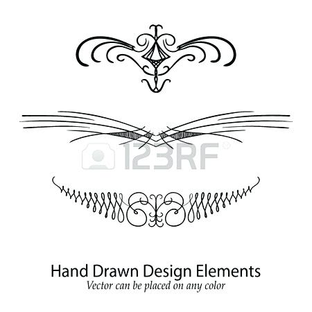 450x450 Fancy Divider Vector Design Element Beautiful Fancy Curls And