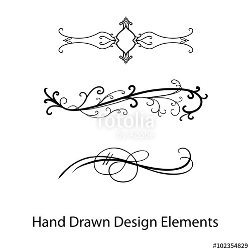500x500 Vector Design Element, Beautiful Fancy Curls And Swirls Divider Or