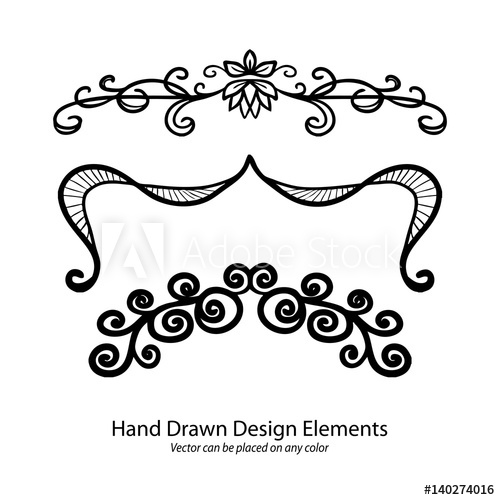 500x500 Vector Design Elements, Hand Drawn Paragraph Or Text Underline