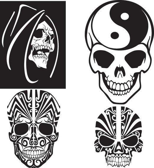 522x570 Free Unique Skull Vector