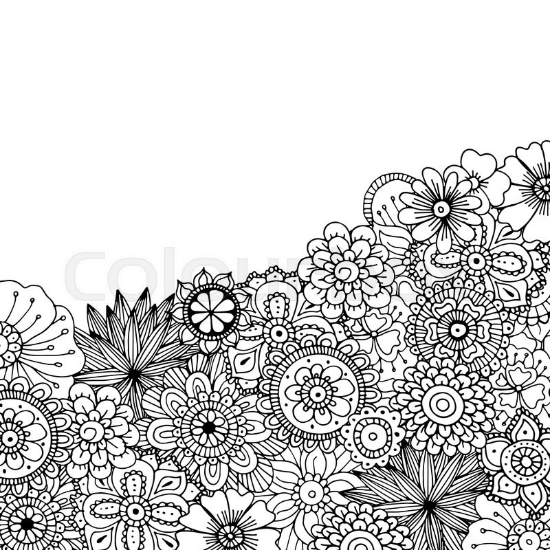 800x800 Hand Drawn Zentangle Doodle Illustration For Adult Coloring Books