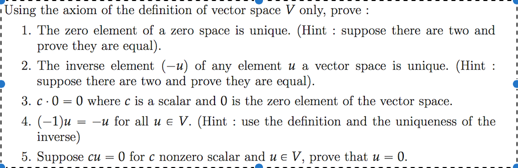 1038x338 Solved Using The Axiom Of The Definition Of Vector Space