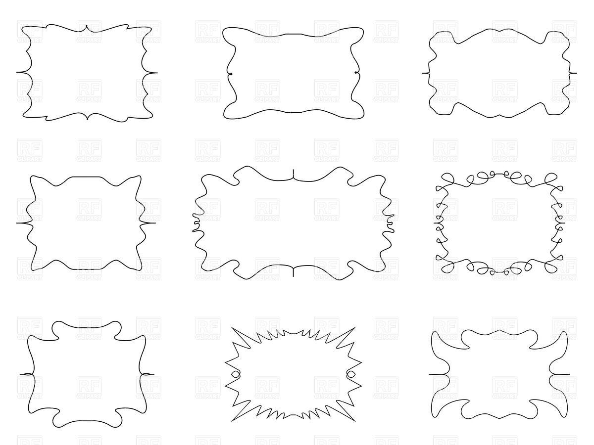 1200x900 Unique Cartoon Simple Frames Vector Image Vector Artwork Of