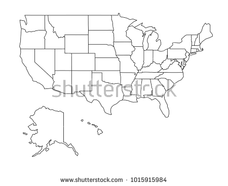 Vector Us Map