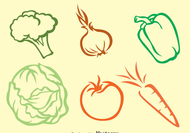 632x443 Vegetable Colors Outline Icons Free Vector Download 329803 Cannypic