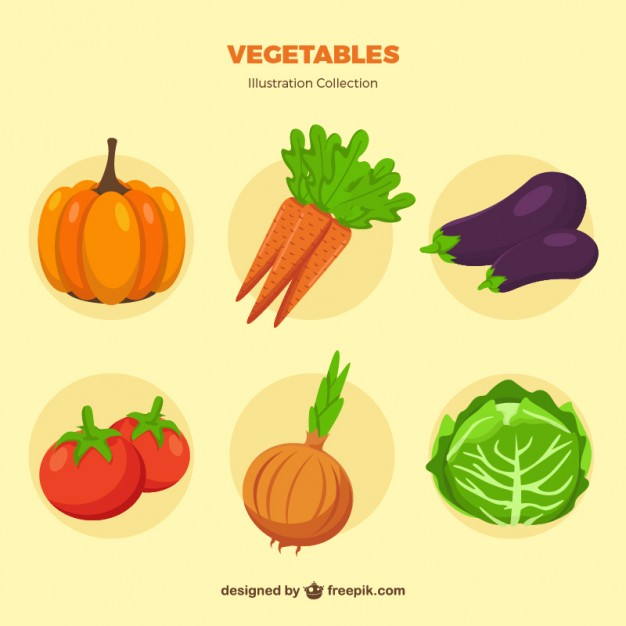 626x626 Vegetable Collection Vector Free Download