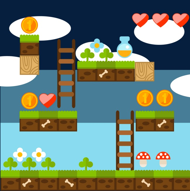 650x651 Vector Video Game Scene, Video Vector, Game Vector, Cloud Png And