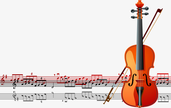 650x412 Red Vector Violin And Audio Spectrum, Violin, Musical Instruments