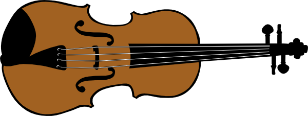 600x227 Violin (Colour) Clip Art Free Vector 4vector