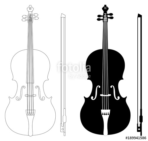 500x476 Violin Set Isolated On White Background Vector Eps 10 Stock Image
