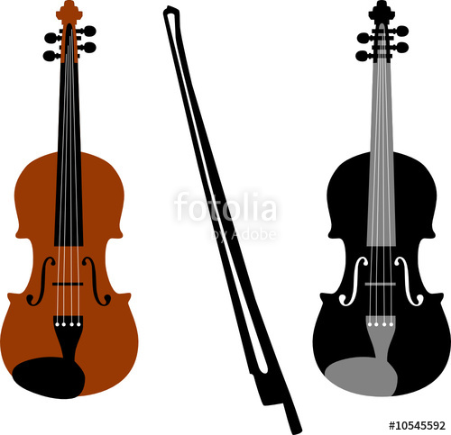 500x483 Violin Vector Stock Image And Royalty Free Vector Files On