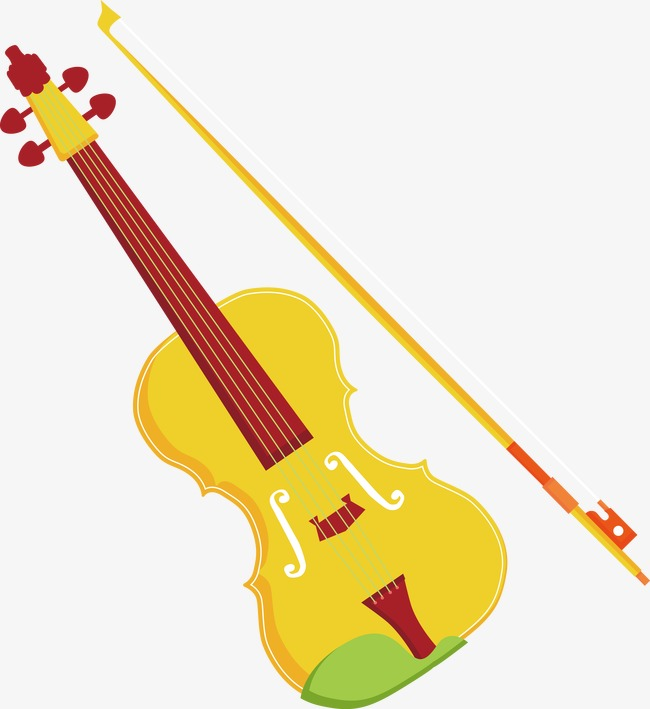 650x709 Cartoon Vector Violin, Cartoon Vector, Yellow, Musical Instruments