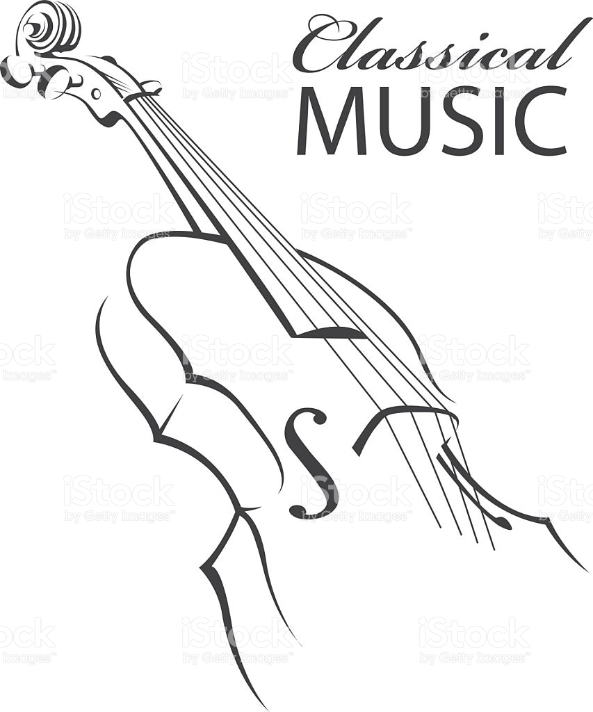 853x1024 Drawn Violinist Vector